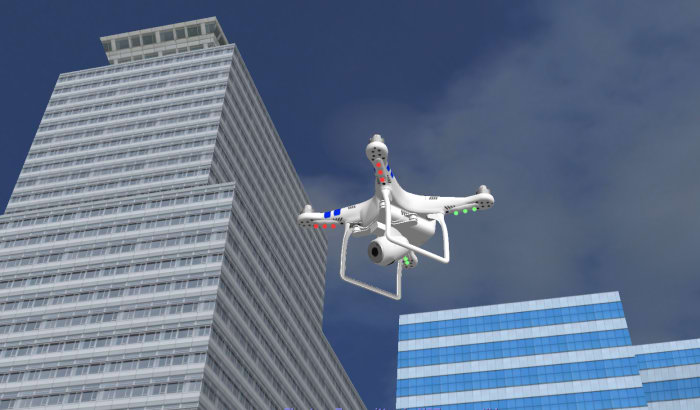 DJI Phantom at City
