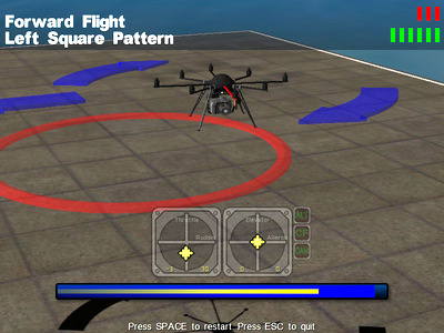 Drone course: Forward flight exercise