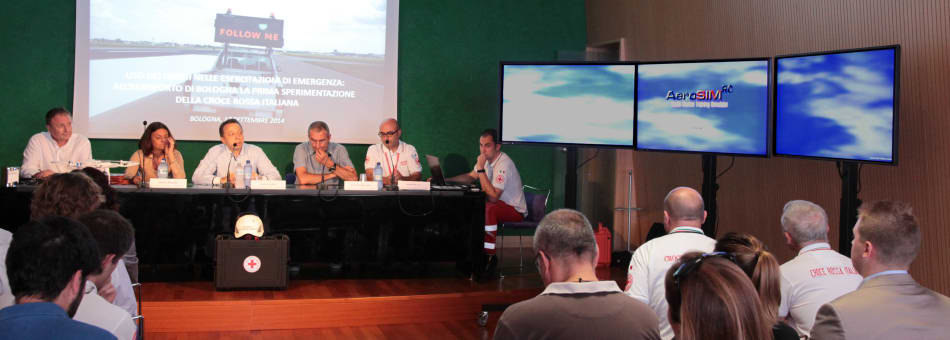 Press conference making use of AeroSIM-RC