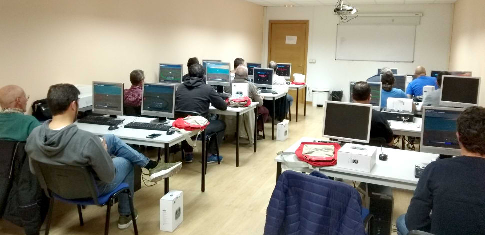AeroSIM RC was the main attraction of the training course.