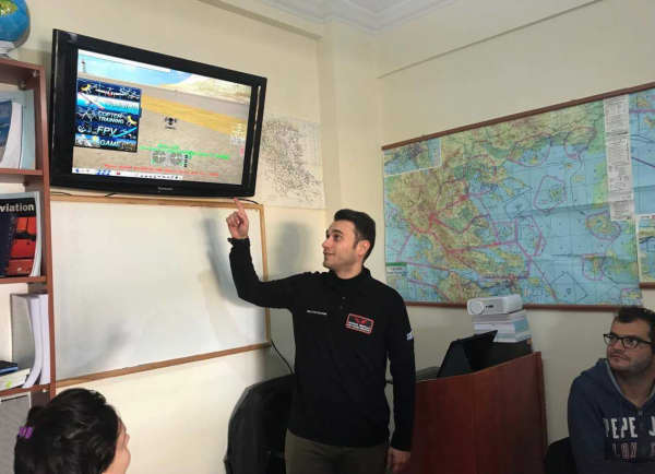 Training session at Hellenic Drones, Greece.