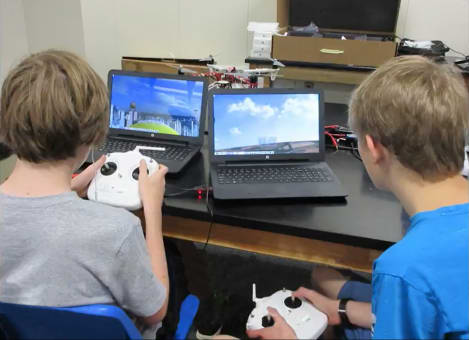 Future UAV Pilots start at STEMBusUSA. STEMbusUSA partners with educators to excite students to pursue a STEM career (Science, Technology, Engineering and Math)