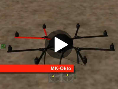 Mikrokopter drones in AeroSIM-RC
